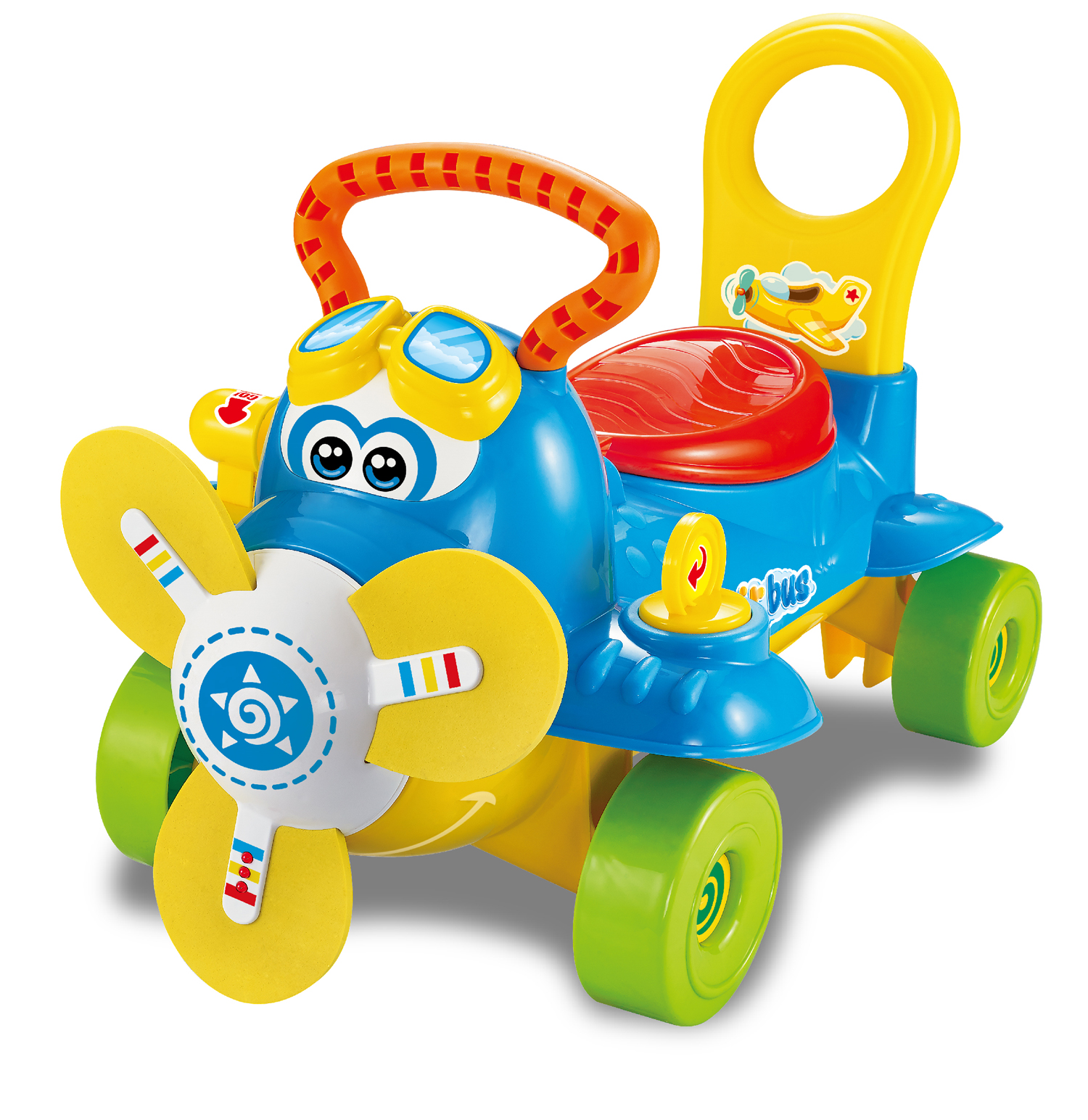 Infant Car Ride & Push Walker Red Blue Best