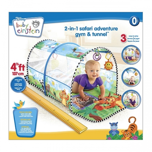 Baby Einstein 2 In 1 Safari Adventure Gym And Tunnel
