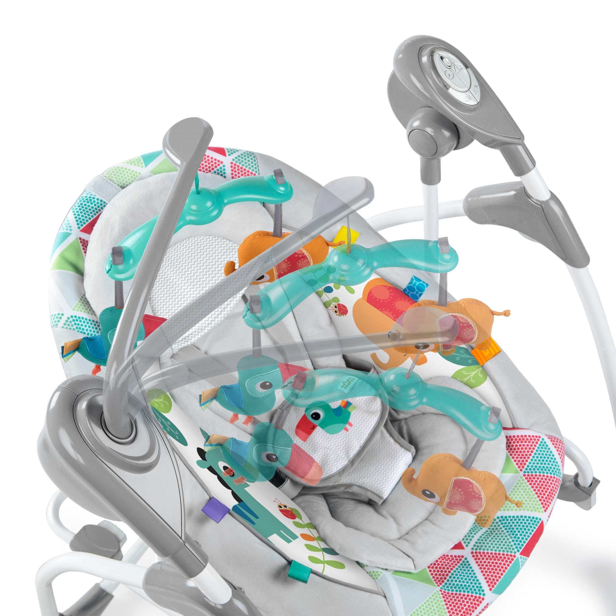 BrightStarts 2 in 1 Rock and Swing -Toucan Tango automatic
