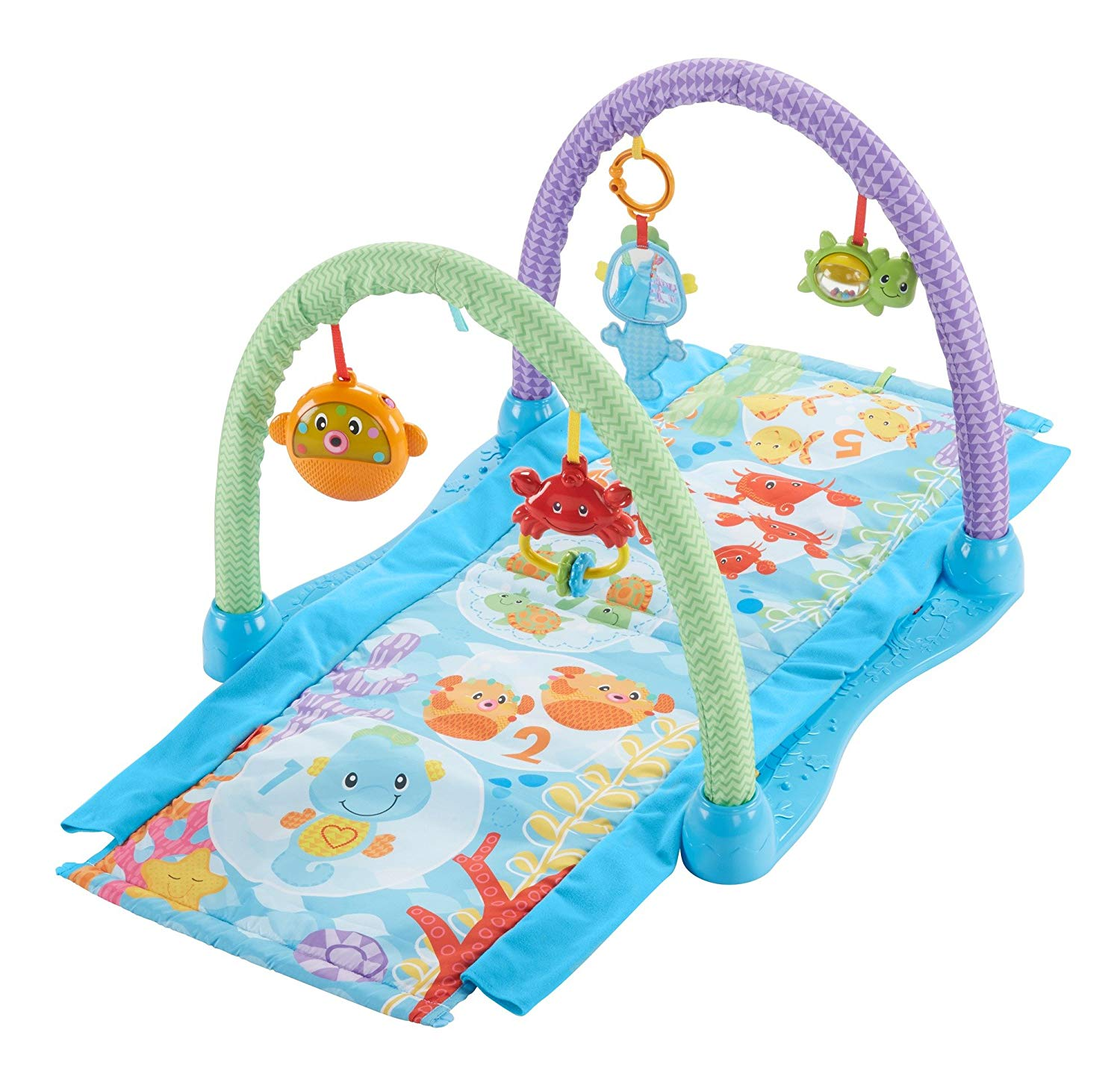 Fisher Price Kick N Crawl Musical Seahorse Activity Gym