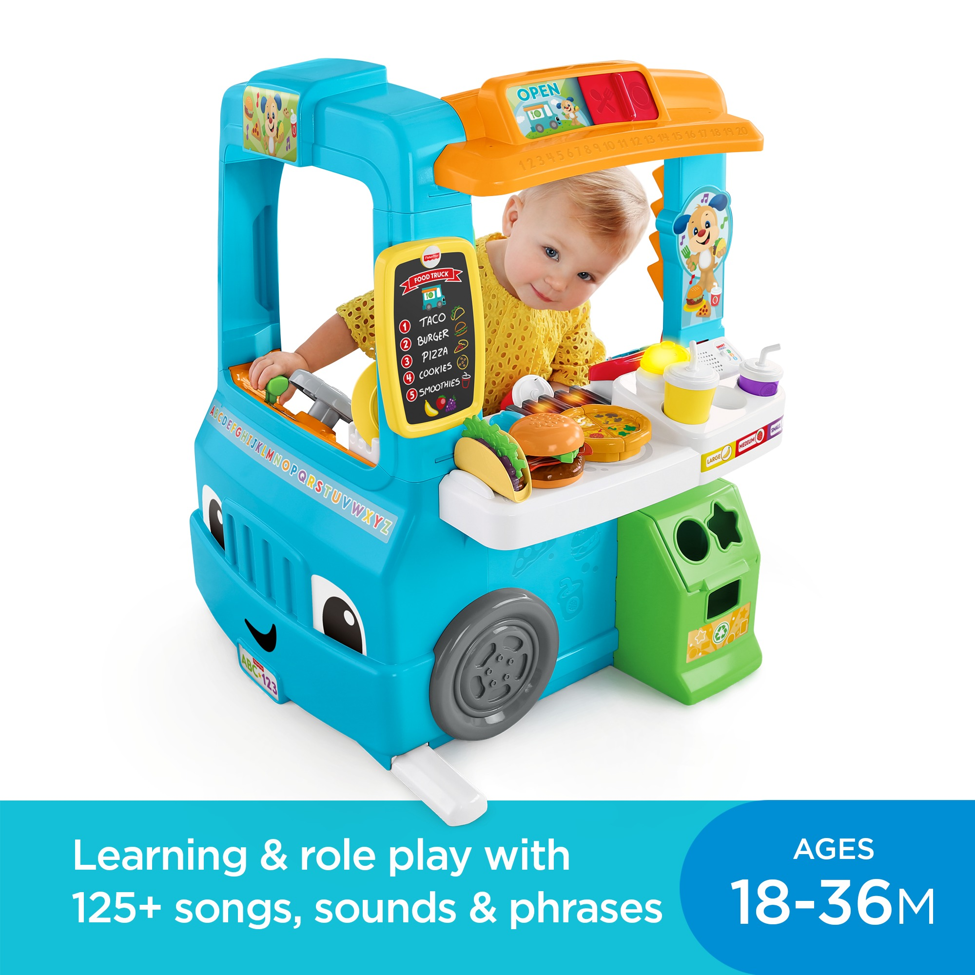 Fisher Price Laugh & Learn Servin' Up Fun Food Truck ...