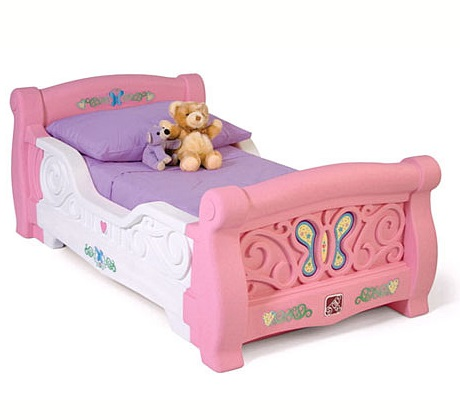 Girls Toddler Sleigh Bed