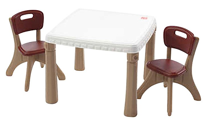 Step2 Lifestyle Kitchen Table and & Chairs Set Pink/Tan ...