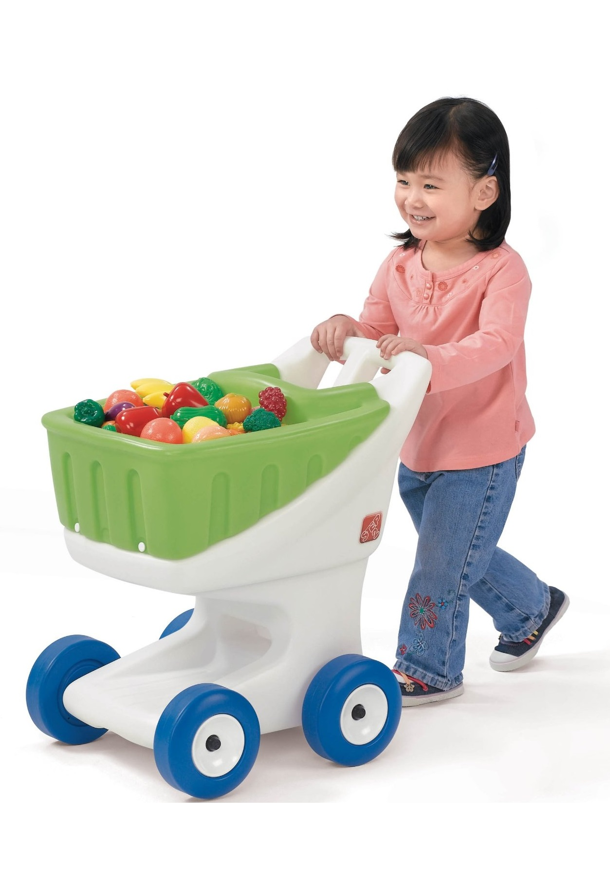 step2 little helpers grocery shopping cart green best educational infant toys stores singapore. Black Bedroom Furniture Sets. Home Design Ideas