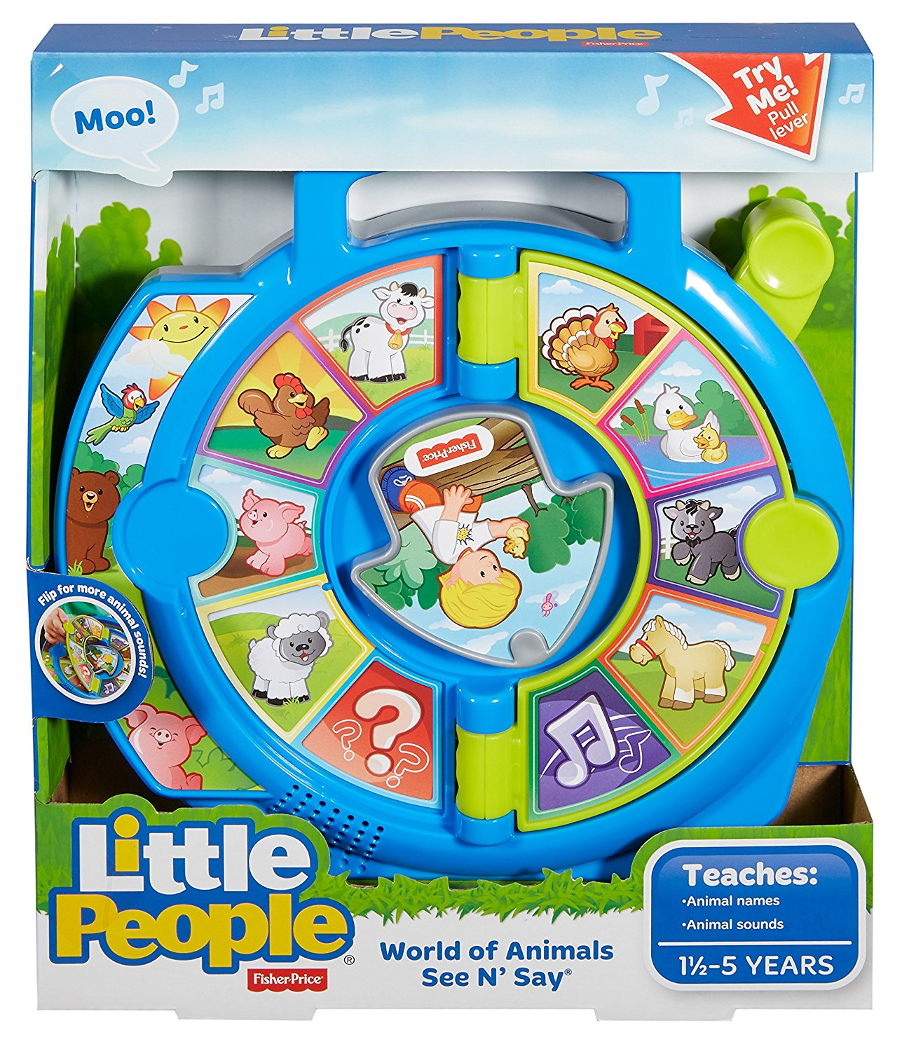 World Of Animals See /'N Say New Toy Toy Little People Fisher Price