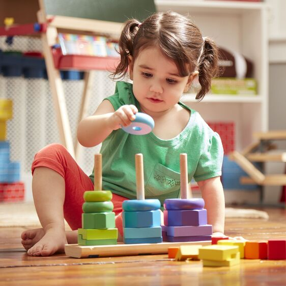 Melissa & Doug Geometric Stacker - Best Educational Infant ...
