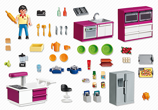 Playmobil Modern Designer Kitchen Best Educational Infant Toys