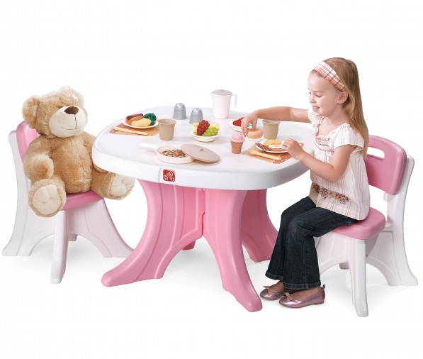 Step2 New Traditions Table u0026 Chairs Set (Pink)  sc 1 st  Lamkins & Step2 New Traditions Table u0026 Chairs Set (Pink) - Best Educational ...