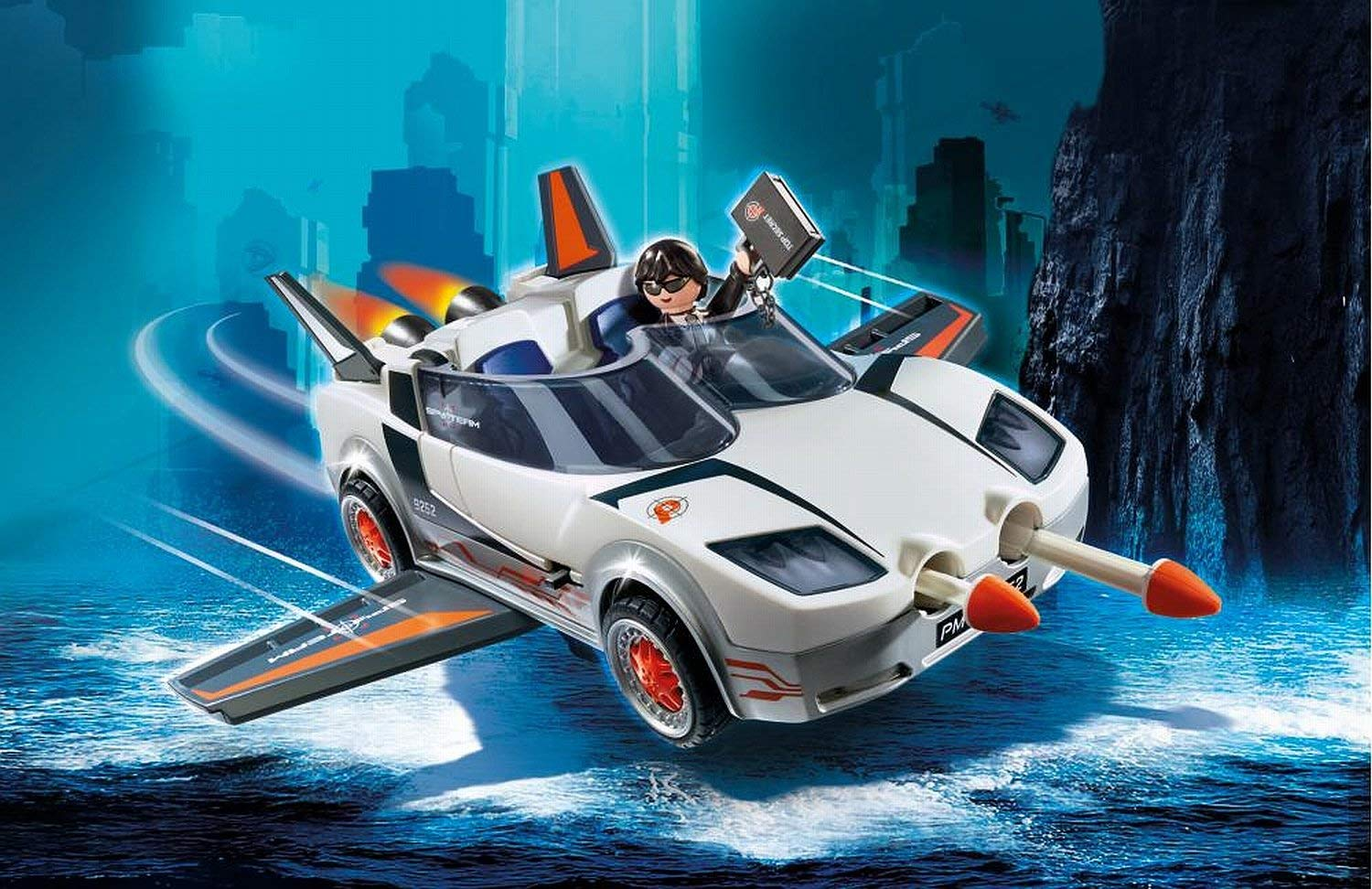 playmobil top agents p with racer 9252  best educational