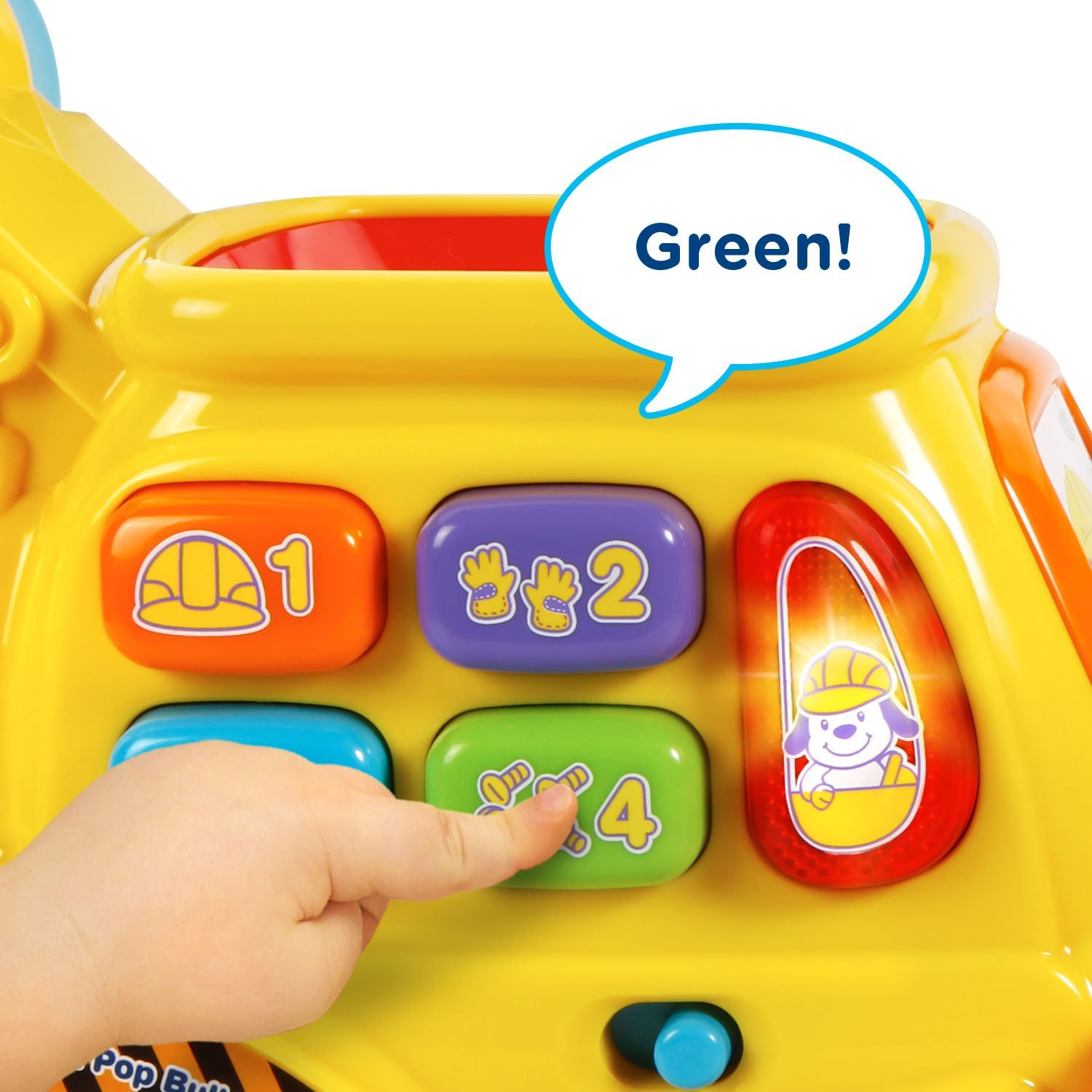 Vtech Pop A Balls Push Amp Pop Bulldozer Best Educational