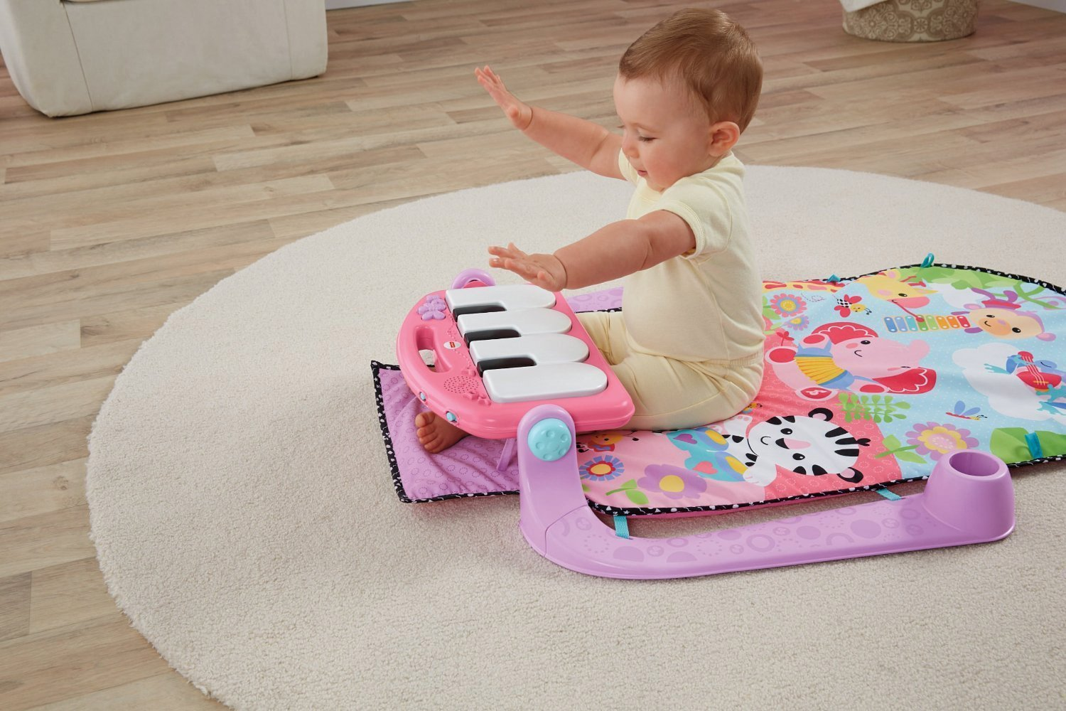 Fisher Price Rainforest Friends Kick And Play Piano Gym Pink