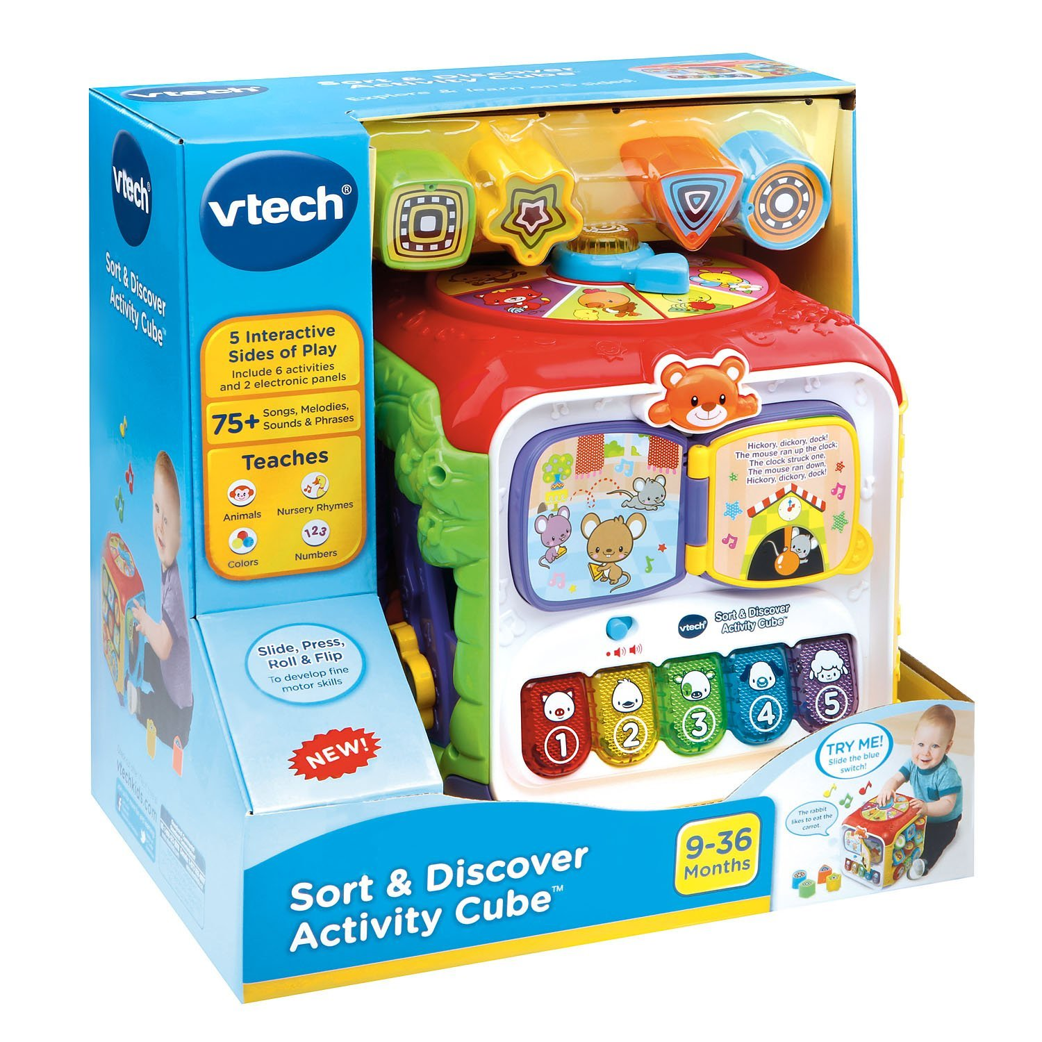 Vtech Sort & Discover Activity Cube Best Educational Infant Toys