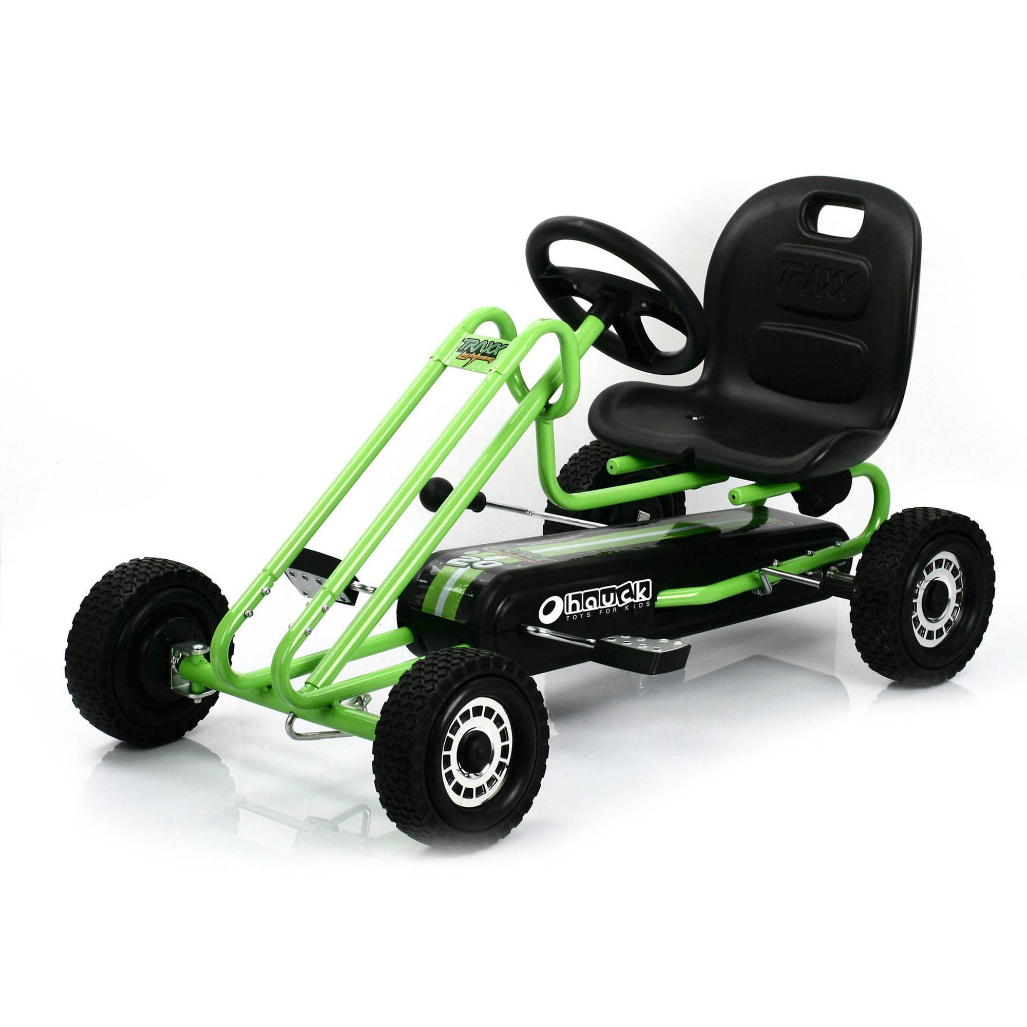 hauck 90105 lightning pedal go kart pedal cart race green best educational infant toys. Black Bedroom Furniture Sets. Home Design Ideas