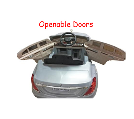 Battery operated car mercedes benz s class zp8003 black for Mercedes benz auxiliary battery price