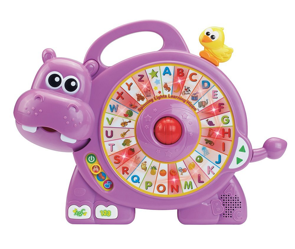 Abc Learning Toys : Vtech alphabet hippo spinning lights learning