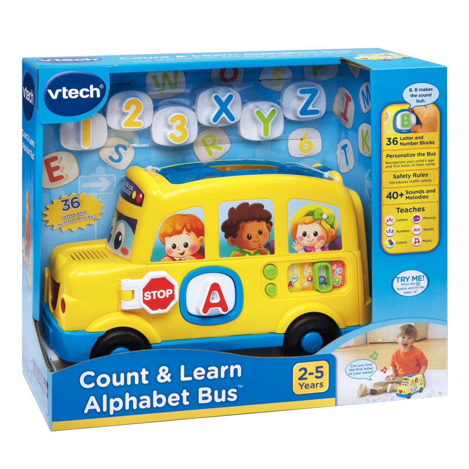 Count and Learn Alphabet Bus Best Educational Infant Toys stores