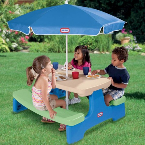 Easy Store Picnic Table With Umbrella Best Educational