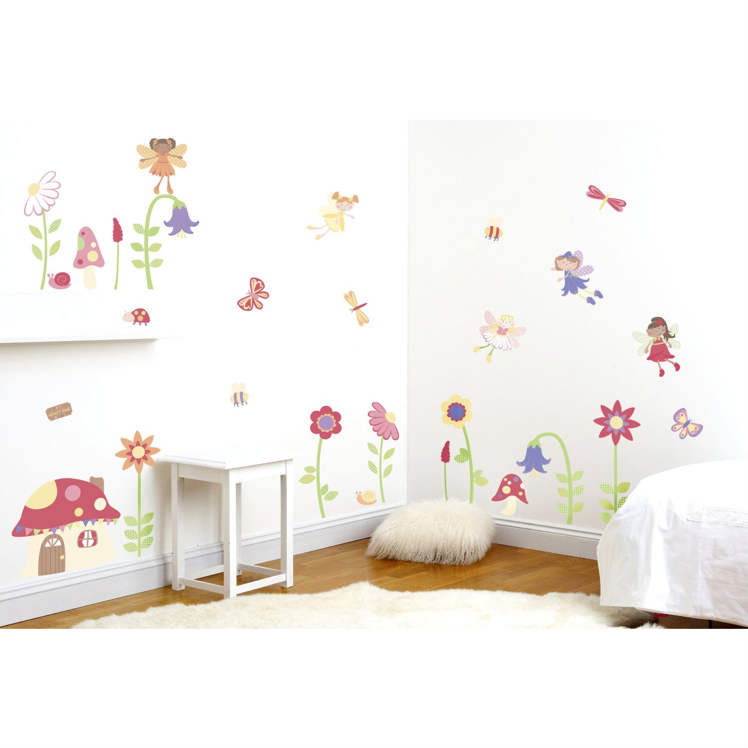 Enchanted Garden Fairies S Wall Sticker