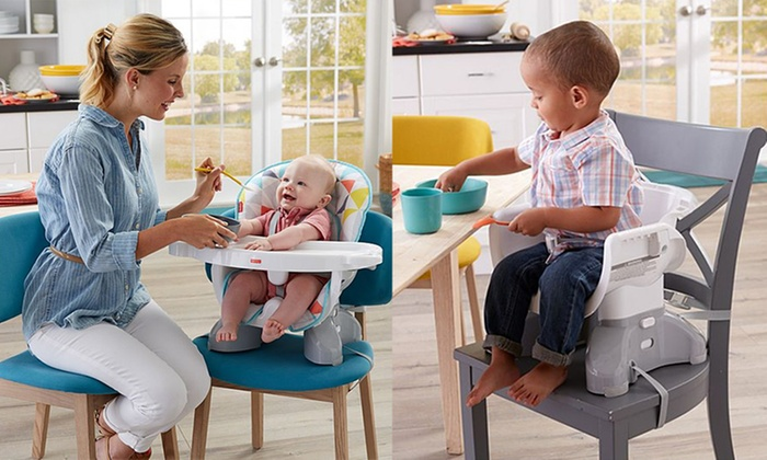 fba49b6cf2391 Fisher Price Spacesaver High Chair Booster Seat (Diamond) - Best ...