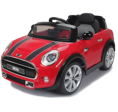 battery operated car mini cooper s je195 red blue yellow. Black Bedroom Furniture Sets. Home Design Ideas