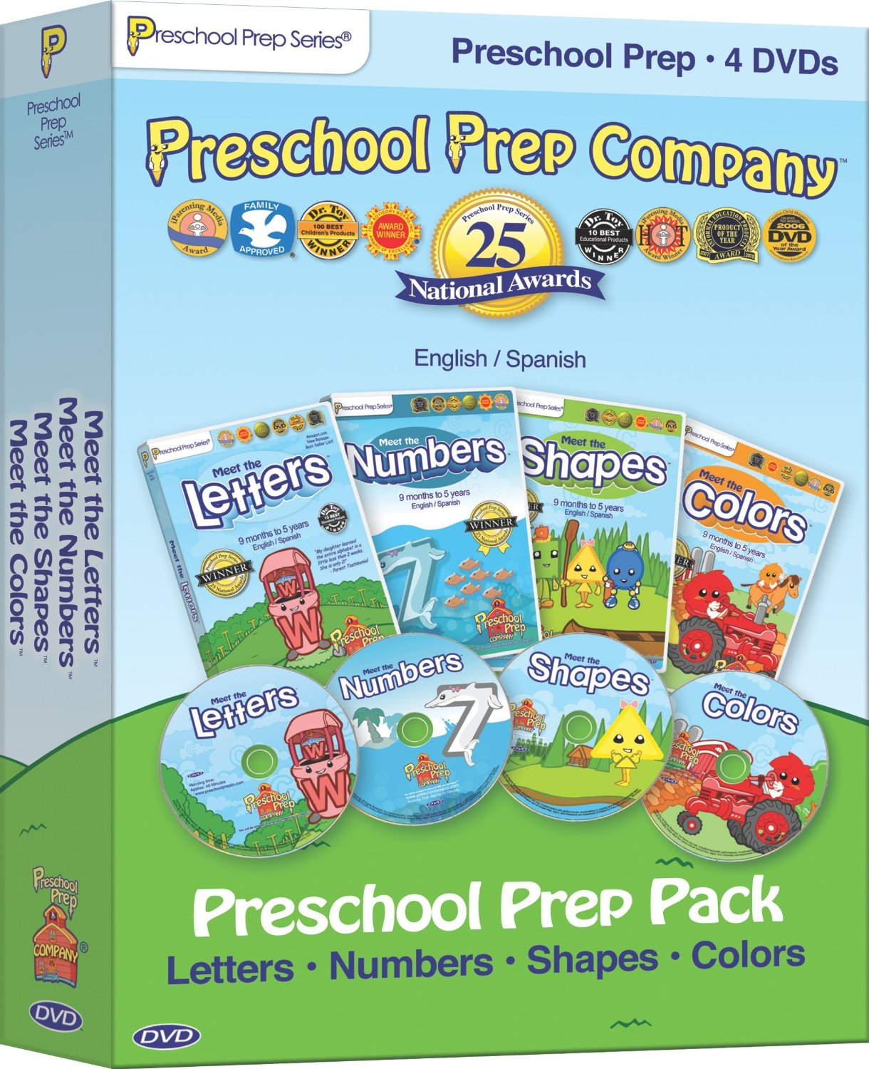 Preschool Prep & Sight Words 7-DVD Pack - Best Educational Infant ...