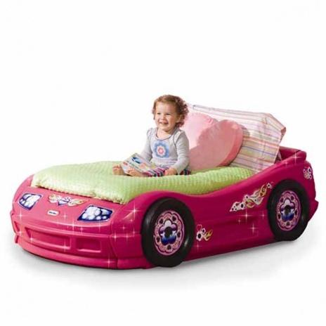 Princess Pink Roadster Toddler Bed