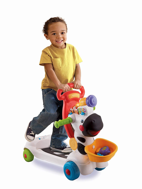 vtech 3 in 1 learning zebra scooter ride on white pink best educational infant toys stores. Black Bedroom Furniture Sets. Home Design Ideas