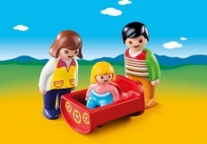 Playmobil 1.2.3 Parents with Baby Cradle