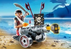 Playmobil Black Interactive Cannon with Raider