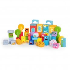 Bright Starts Sesame Street Wooden Storytelling Blocks