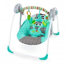 Bright Starts Swing Zig Zag Zebra Portable Swing