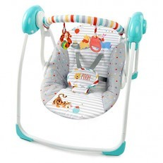 Bright Starts Winnie The Pooh Happy Hoopla Portable Swing