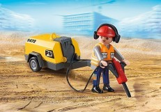 Playmobil Construction Worker with Jack Hammer