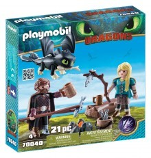 Playmobil DreamWorks Dragons Hiccup and Astrid with Baby 70040