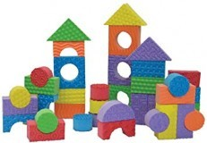 Edushape Brightly Colored Textured Foam Building Blocks 30