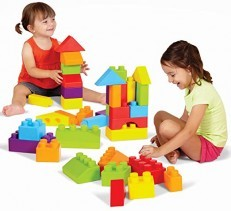 Edushape Chubby EduBlocks, 36 Piece Lego Foam Blocks