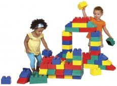 Edushape EduBlocks Set Of 50 Lego Foam Blocks