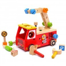 I'M TOY Fire Fighter Builder wooden toy