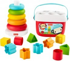 Fisher Price Baby's First Blocks & Rock a Stack Gift Set Bundle