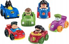 Fisher Price Little People DC Super Friends Wheelies Gift Set