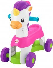 Fisher Price Rollin Tunes Unicorn ride on