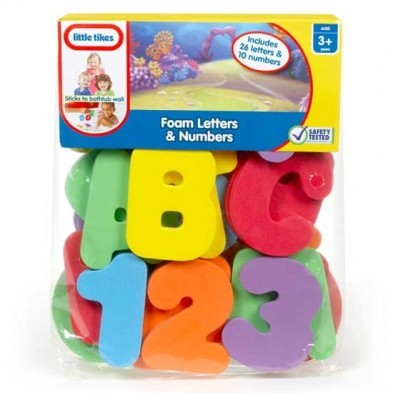 Little Tikes Foam Letters & Numbers bath toy