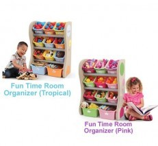 Step2 Fun Time Room Organizer storage (Tropical/Pink)