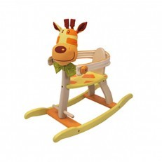 I'M TOY Geo Forest Wooden Early Rocking - Giraffe rocker