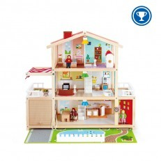 Hape E3405 Wooden Doll Family Mansion DollHouse