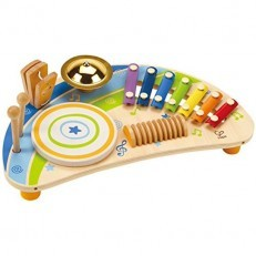 Hape E0315 Mighty Mini Band Wooden Percussion Instrument