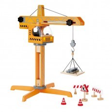 Hape E3011 Wooden Playscapes Crane Lift Playset