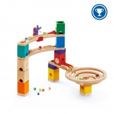 Hape E6021 Quadrilla Race to the Finish Marble Run Construction