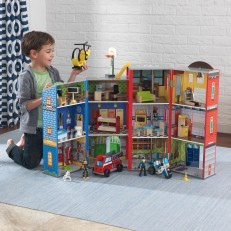 KidKraft Everyday Heroes Wooden police fire station Playset