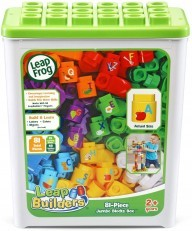 LeapFrog LeapBuilders 81 Piece Jumbo Blocks Box green